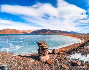 Pangong Tso Lake Frozen in Winter - Tripjodi