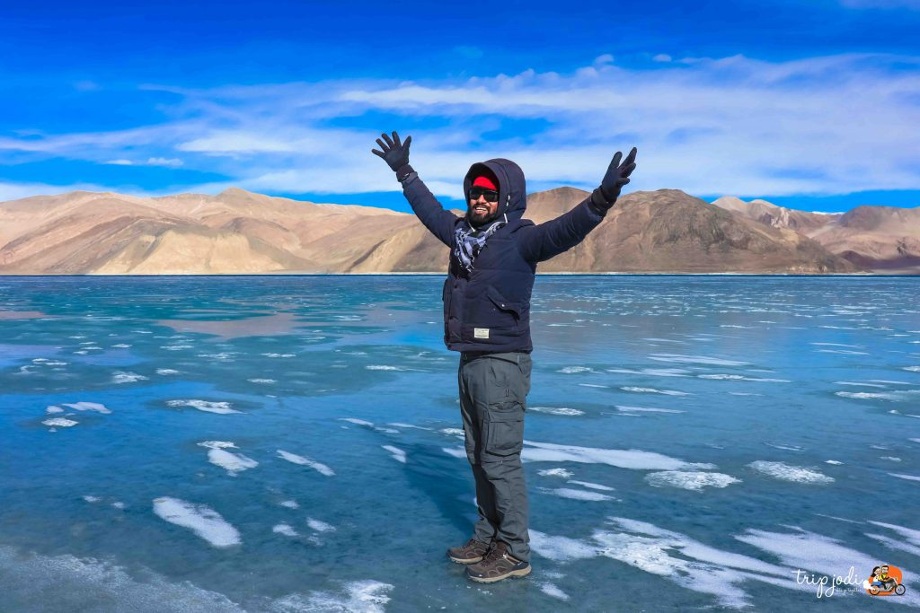 Pangong Tso Lake Frozen in Winter - Tripjodi