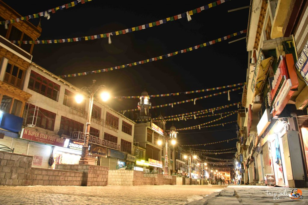 Leh Market - Night view