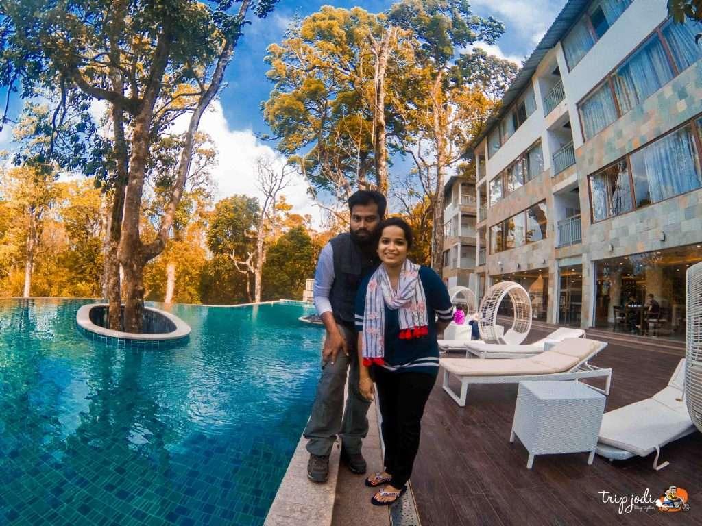 Swimming Pool-Gazebo-Honeymoon-Kerala Munnar_elixir Hills_Tripjodi