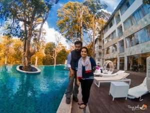 Swimming Pool-Gazebo-Honeymoon-Kerala Munnar_elixir Hills_Tripjodi